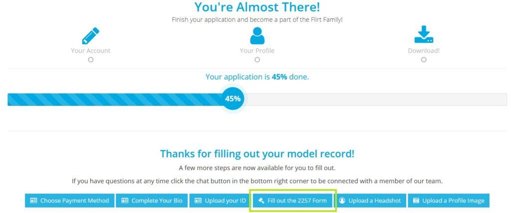 Верификация аккаунта с помощью документов Flirt4Free