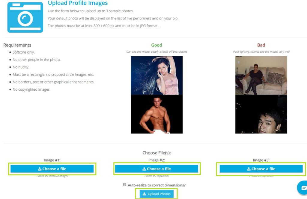 Загрузка фото профиля
