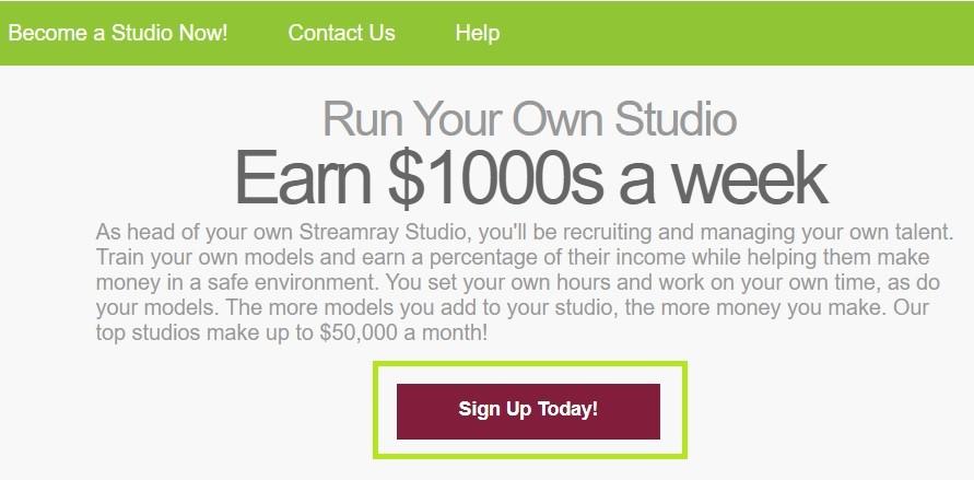 Streamray регистрация аккаунта студии